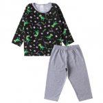 Pijama Infantil Masculino Roar Mescla - Kappes