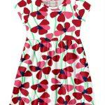 Alakazoo - Vestido Meia Malha Estampado Florido Vermelho