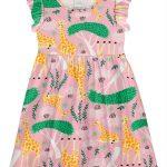 Alakazoo - Vestido Meia Malha Girafa Rosa