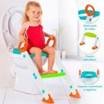 Assento Redutor Infantil Vaso Sanitário Escada Desfralde Azul Buba