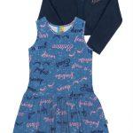 Bee Loop - Vestido com Bolero Infantil Azul