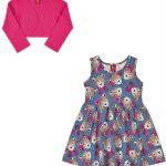 Rovitex Kids - Vestido Infantil Feminino Azul
