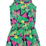 Bee Loop - Vestido Estampado Verde