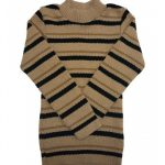 Blusão Lã Infantil Menino Listrado Bege - Remyrô