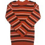 Blusão Lã Infantil Menino Listrado Laranja - Remyrô