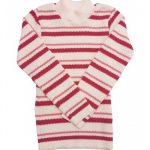 Blusão Lã Infantil Menino Listrado Rosa - Remyrô