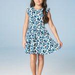 Carinhoso - Vestido Azul Escuro Curto Laço Carinhoso