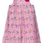 Carinhoso - Vestido Rosa Claro Floral Plissado