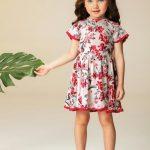 Carinhoso - Vestido Vermelho Godê Floral Renda Carinhoso