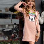 Disney - Vestido Manga Longa Infantil Rosa