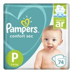 fraldas pampers super sec p