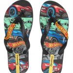 Ipanema - Chinelo Infantil Grendene Hot Wheels Preto