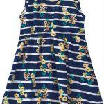 Malwee Kids - Vestido Azul Marinho Evasê Floral