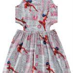 Malwee Kids - Vestido Cinza Claro Ladybug® com Malwee Kids