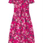 Malwee Kids - Vestido Rosa Escuro Longo Floral Malwee Kids