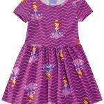 Malwee Kids - Vestido Roxo Princesa Sofia® Chevron Malwee Kids