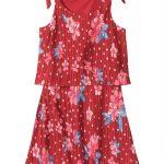 Carinhoso - Vestido Rosa Evasê Pregas Lacinho