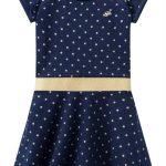 Milon - Vestido Infantil Azul Marinho