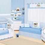 Quarto de Bebê Completo Arca Azul 26 peças - Bebê enxovais