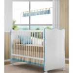Quarto De Bebê Completo Doce Sonho Branco/Azul Lojix - Qmovi