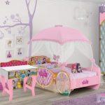 Quarto Infantil Cama Princesas Disney Star com Dorsel e Penteadeira Princesas Premium Pura Magia
