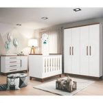 Quarto Infantil Wood Branco/Hannover - Planet Baby
