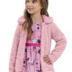 Quimby - Casaco Infantil em Pelo Rosa