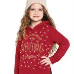 Rovitex Kids - Blusão Infantil Feminino com Capuz Vermelho
