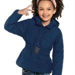 Rovitex Kids - Jaqueta Infantil Feminina com Capuz Azul