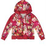 Trick Nick - Jaqueta Infantil Estampa Floral Capuz Vermelho