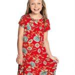 Playground - Vestido Floral Midi Rosa