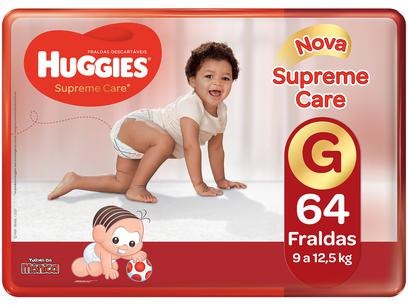 Fralda Huggies Turma da Mônica Supreme Care - Tam. G 9 a 12,5kg 64 Unidades