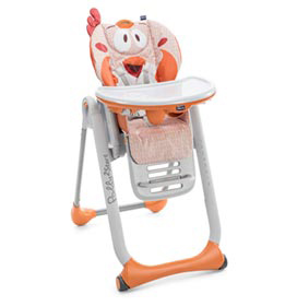 Cadeira de Alimentação Polly 2 Star Fancy Chicken Laranja - Chicco