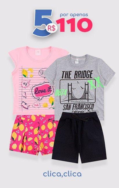 5 Conjuntos por R$ 110 - Loja Moda Love
