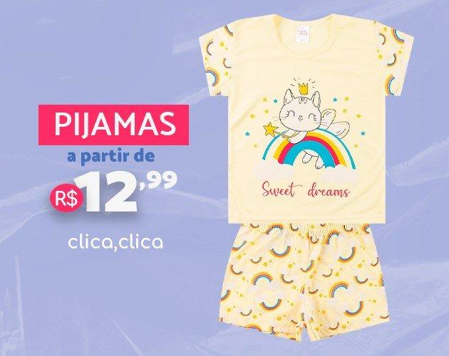 Pijamas a partir de R$12,99 - Loja Moda Love