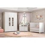 Quarto Inf Bebê Completo Henn Aquarela QI27 Cristal/Bco