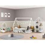 Quarto Infantil Montessoriano Rampa Telhado Estante Branco – Casatema