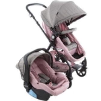 Carrinho de Bebê Travel System Poppy Duo Rosa Mescla - Cosco