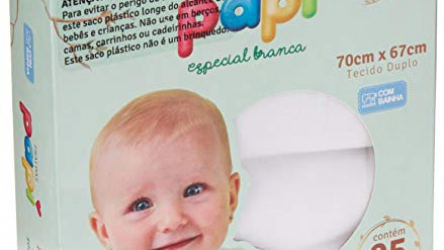 fralda tecido cremer especial branca 70 x 70 cm c/ 5