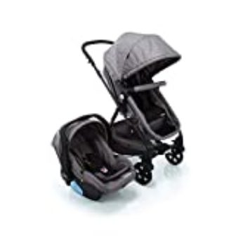 Travel System Poppy Duo Cosco, Cinza Mescla